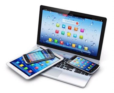 copiii – desenele, tableta, telefonul mobil