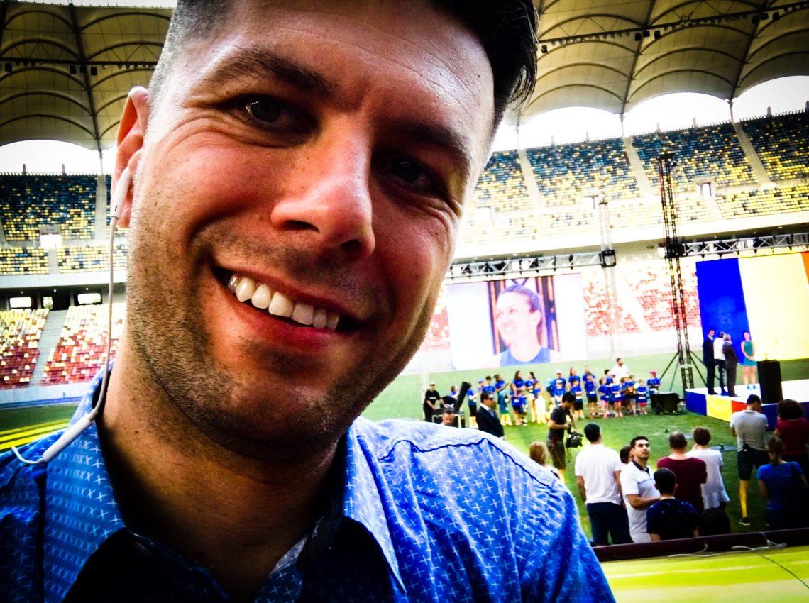 pe stadion cu Simona Halep